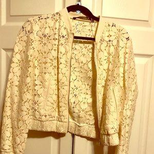 Vintage cream lace jacket